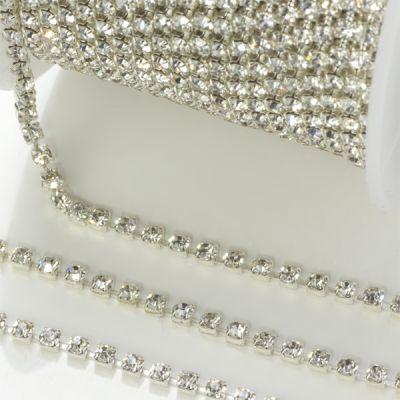 Wspaniały Taśma z kryształkami Crystal 2mm - 25cm OO45