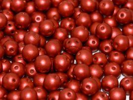 RounDuo® Beads 5 mm (2 hole) Lava Red  - 10 szt