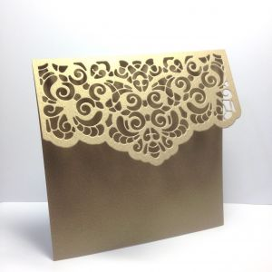Baza kartki  LACE 13x13,5cm metallic antique gold (kart.270gr) - 1 szt