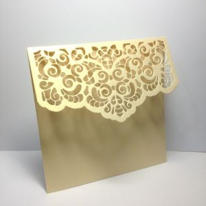 Baza kartki  LACE 13x13,5cm metallic antique cream (kart.270gr) - 1 szt