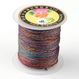 Nici metalizowane  0,4mm ( 3-nitki) - Colorful  ok 150 m