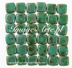 CzechMates Tile Beads 6mm Picasso - Persian Turquoise 20 szt.