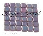 CzechMates Tile Beads 6mm Luster Metallic Amethyst 20 szt.