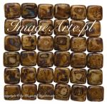 CzechMates Tile Beads 6mm Picasso-Opaque Lt Beige 20 szt.