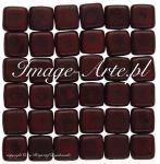 Czech Mates Tile Beads 6mm Picasso Opaque Red 20 szt.