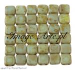 CzechMates Tile Beads 6mm Picasso-Opaque Pale Turquoise 20 szt.