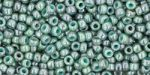 Toho  Round 11/0 Marbled Opaque Turquoise/Blue TR-11-1207 10 gram