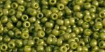 Toho Round 11/0 Opaque-Frosted Pea Green Soup TR-11-1624F 10 gram