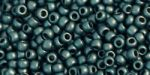 Toho Round 11/0 Hogher-Metallic-Frosted Teal Hematite TR-11-519F 10 gram