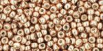 Toho Round 11/0 Permanent Finish Galvanized Rose Gold TR-11-PF551 10 gram