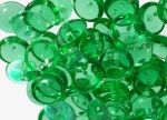 Koraliki Piggy Beads 4x8 mm Transparent Green 20 szt.