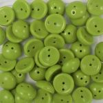 Koraliki Piggy Beads 4x8 mm Opaque Lime 20 szt.