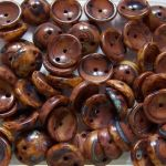 Koraliki Piggy Beads 4x8 mm Opaque Brown Picasso 20 szt.
