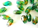 Fire Polish 15x10 mm Yellow Green 1 szt.