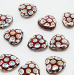 Koraliki Czech Glass Beads -Heart- 8 mm 2 szt.