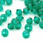 Bicone 4 mm Green Emerald 40szt