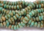 Fire Polish Turquoise Stone 7x5 mm - 2 szt.