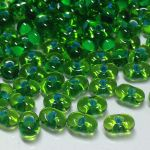 Koraliki Farfalle Preciosa - Blue Lined Green Crystal  6,5mm  - 10g