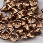 Flower Cup Beads 7x5 mm Camel Gold - 1szt