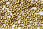 O bead ® 1 x 3,8 mm Brass Gold 5 gram