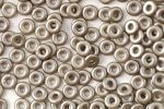 O bead ® 1 x 3,8 mm Alabaster Pastel Lt.Brown  5 gram