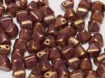 Pyramid beads 2-hole 6 x 6 mm Alabaster Vega Luster  10 szt.