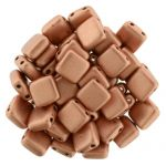 CzechMates Tile Bead 6mm : Matte Metallic Copper 20 szt.