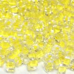 Cube Preciosa 3,4x3,4 mm Crystal Yellow Lined 10 gram