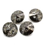 Swarovski Rivoli 12mm Foiled Black-Patina 1122 1 szt.