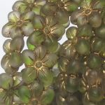 Koraliki Czech Glass  Flowers lovely 14x13mm matte/old patina