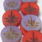 Koraliki Czech Glass Beads  Dragonfly 23mm mix matte lavende/ red/picasso