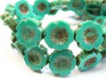 Koraliki Czech Glass Beads Flowers Hawaii 14mm picasso