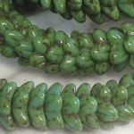 Koraliki Czech Glass Beads Bell (kwiatki) 10x4mm shine picasso