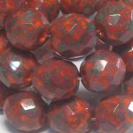 Fire Polish 10 mm Picasso Red 2 szt.