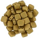 CzechMates Tile Bead 6mm Matte Metallic Goldenrod 20 szt.