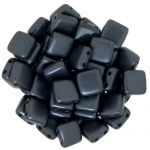 CzechMates Tile Bead 6mm Pearl Coat Charcoal 20 szt.