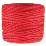 SuperLon S-LON MACRAME  CORD TEX 400 Bright Coral 35 yard(ok32m)