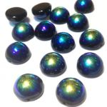 Dome Bead 12x7mm Jet AB 1 szt.