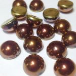 Dome Bead 10x6mm Jet California Gold Rush 1 szt.
