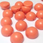 Dome Bead 10x6mm Peach Coral 1 szt.