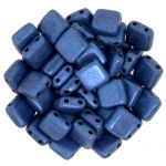 CzechMates Tile Bead 6mm Metallic Suede Blue 20 szt.
