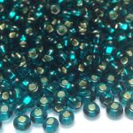 Rocail 6/0 Silver Lined Emerald/Teal col 57710 10 gram