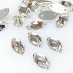 Preciosa Navenette 12x6mm 2-hole Crystal