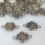 Łącznik Bali 12x3,5mm antique silver  NICKEL FREE - 1 szt