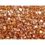 Pinch Beads 5x3mm Crystal Orange Rainbow - 5 g (ok.60 szt.)