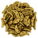 CzechMates Crescent 3/10mm  Matte - Metallic Anitque Gold- 5 gr