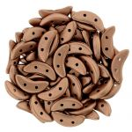 CzechMates Crescent 3/10mm  Matte - Metallic Bronze Copper - 5 gr