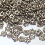 Flower Beads 5mm Crystal Argentic  Full  - 10 szt
