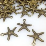 Zawieszka STARFISH 19,5x19,2x2mm antique bronze NICKEL FREE- 1 szt