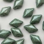GemDuo  8x5mm  chalk green luster - 5 gram